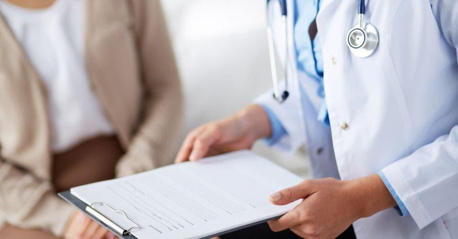 Una paciente en consulta