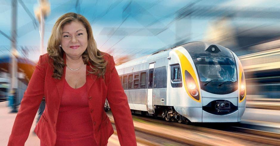 Elizabeth Briceño, presidenta del Incofer, lidera el proyecto del tren. Archivo/La República.