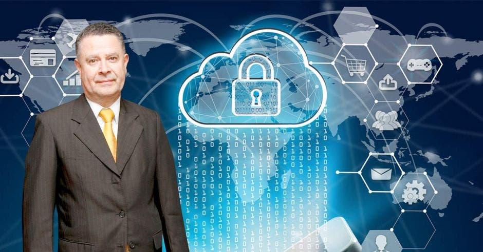 En seguridad, al portal se aplicará un certificado SSL para ofrecer al usuario aún mayor tranquilidad durante la navegación del mismo. Douglas Soto es el gerente general del Banco de Costa Rica. Shutterstock – Elaboración propia/La República.