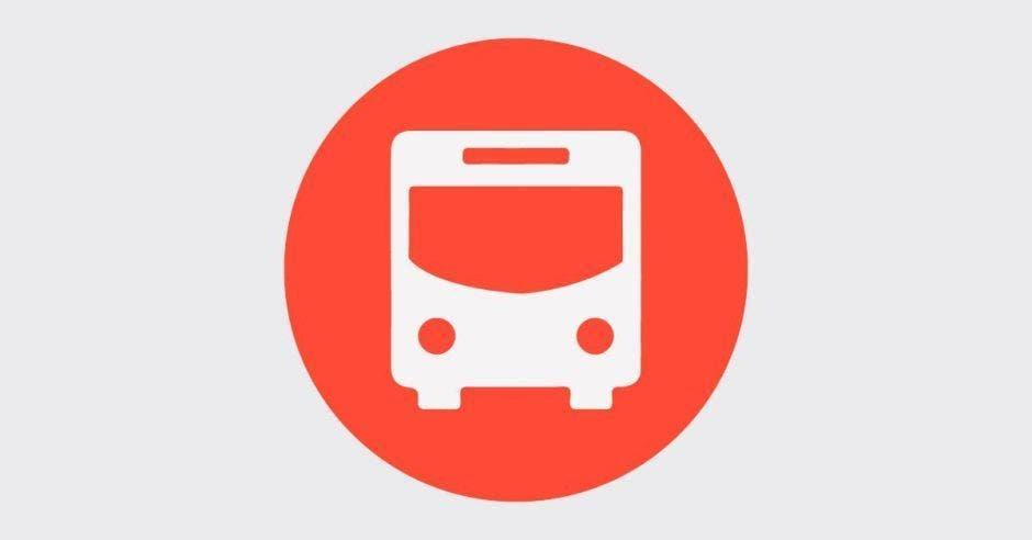Un bus color rojo