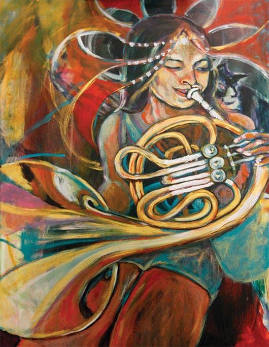 Esta es una de las obras que puede encontrar en la exposición.