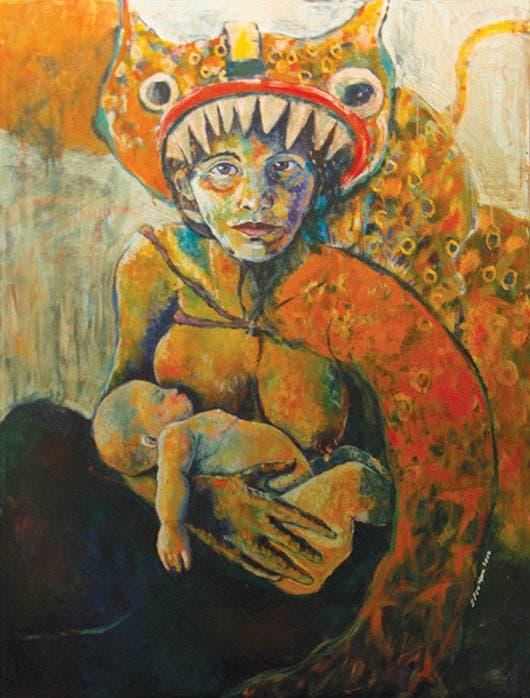 """""""El ser madre la volcó de lleno a expresar esos sentimientos en sus pinturas."""""""
