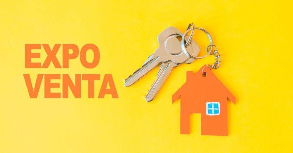 Casa, llaves, expo venta