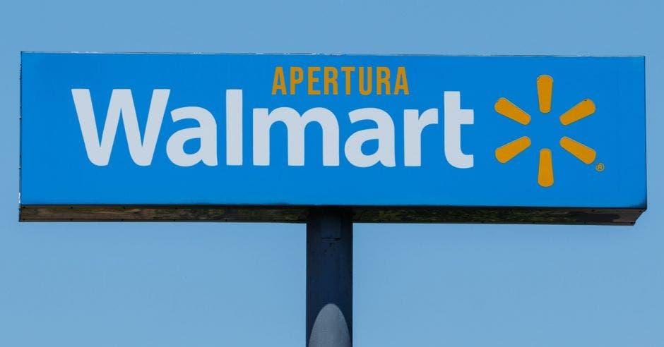 Letrero de Walmart