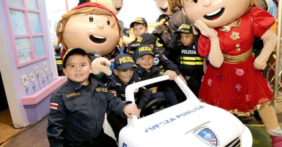 """El objetivo es que los niños aprendan sobre prevención, seguridad y otros temas en la denominada """"Delegación de Policía"""". Cortesía Museo de los Niños/La República"""