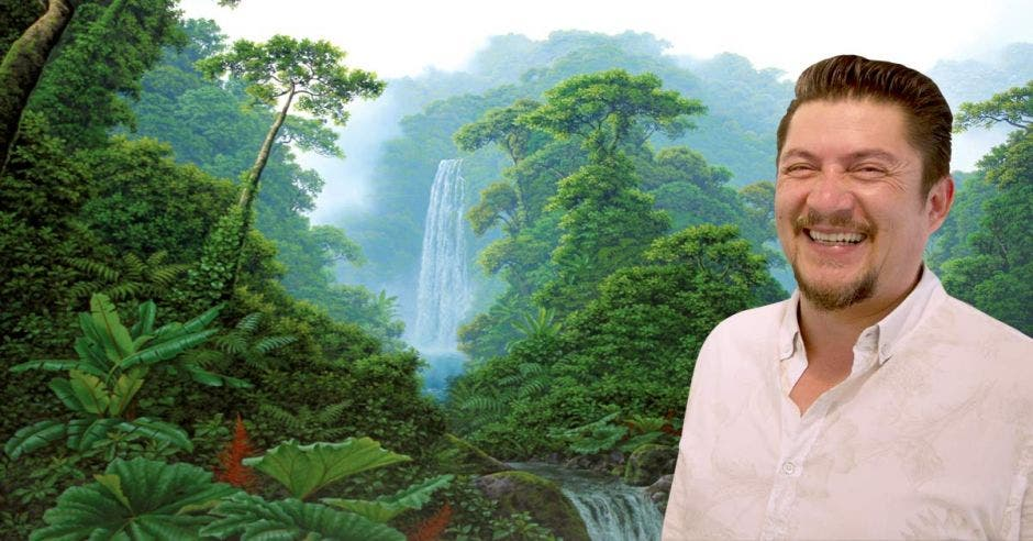La exhibición está compuesta por doce obras en las que presenta la riqueza natural de Costa Rica. Richard Blaser/La República