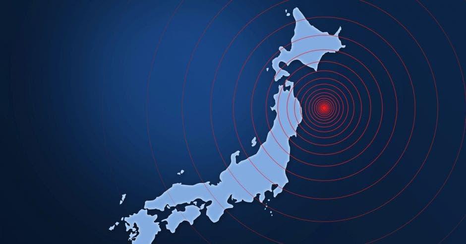 Imagen de terremotos en una zona de Japón