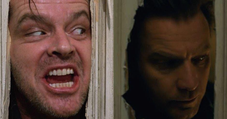 Jack Nicholson y Ewan McGregor, protagonistas de las películas The Shining y Dr. Sueño