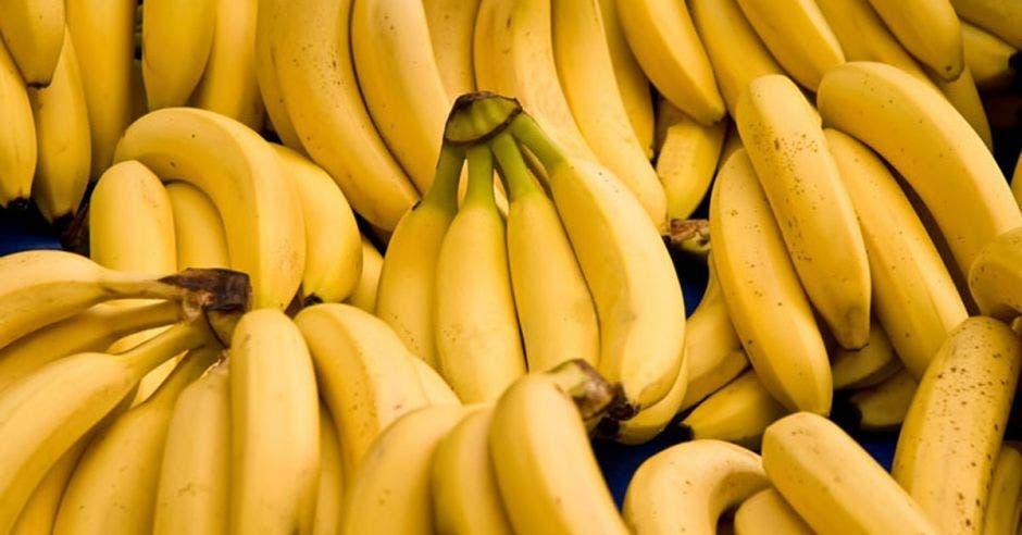 Varios racimos de banano