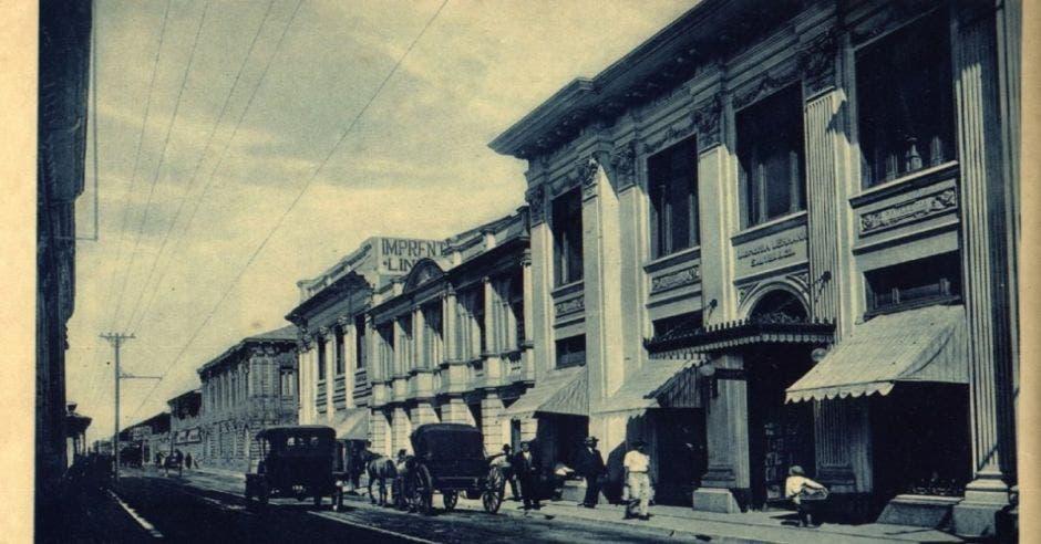 Foto antigua de la Librería Lehmann en San José