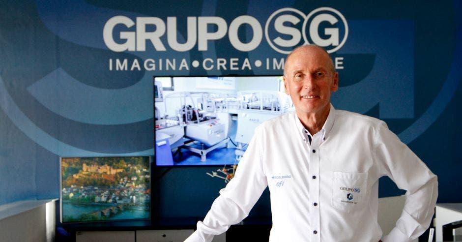 """""""La responsabilidad ambiental es un tema que nos compete a todos"""", aseguró Werner Toebe, gerente general del Grupo SG.  Esteban Monge/LA REPÚBLICA."""