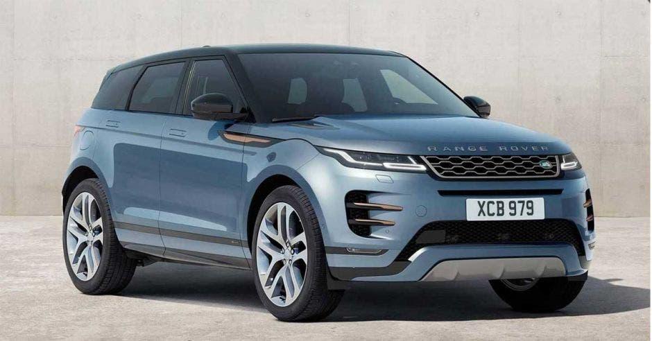 carro azul range rover