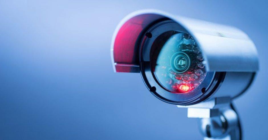 Una cámara de video