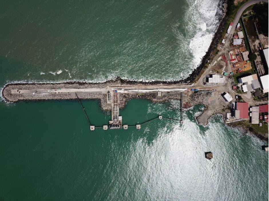 Toma de las nuevas instalaciones portuarias en Moín, Limón, desde un dron