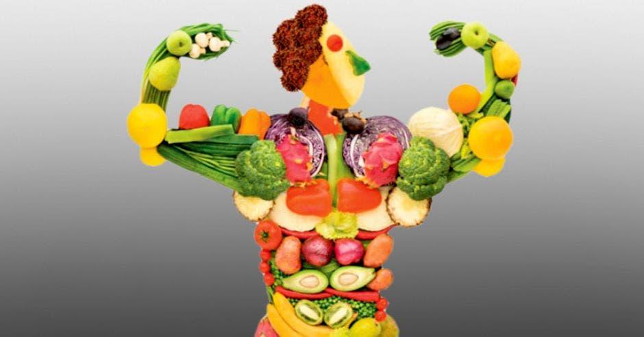 muñeco fuerte de frutas