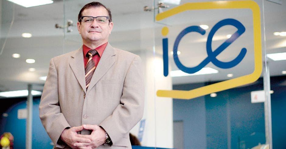 German Sánchez, jefe de la Unidad de Infraestructura de la Gerencia de Telecomunicaciones del ICE.