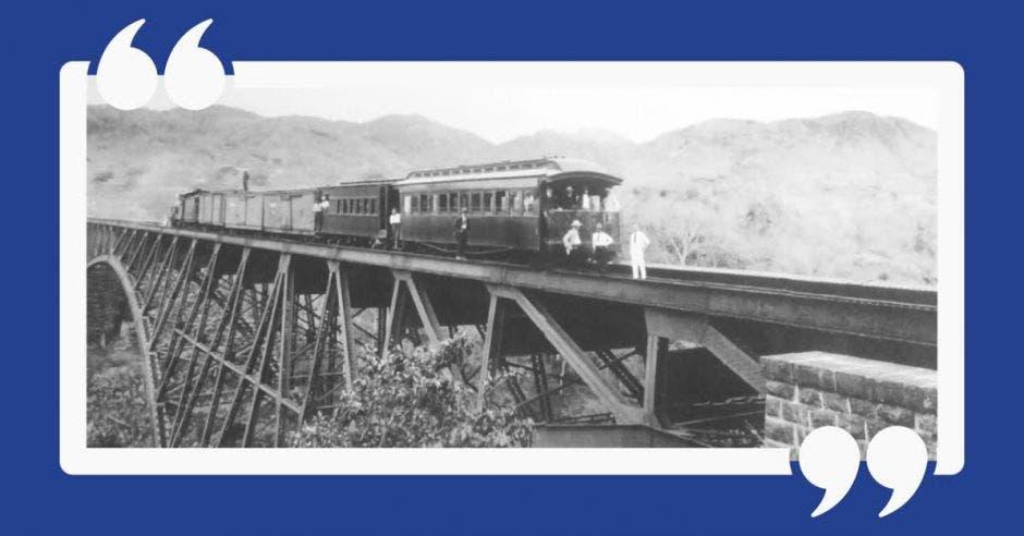 Los trabajos de la construcción del Ferrocarril al Pacífico