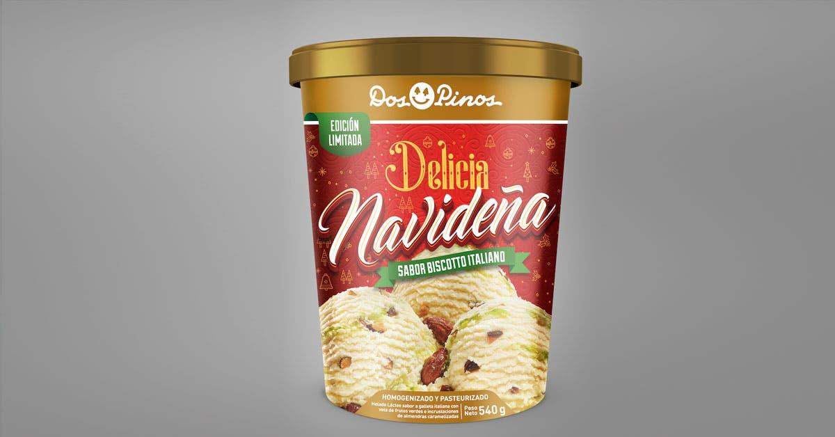helado de Navidad Dos Pinos