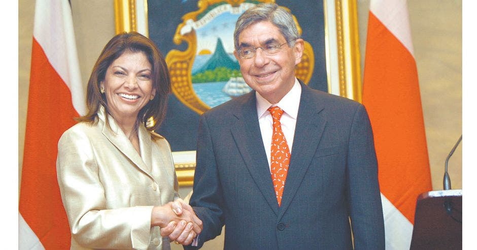 Laura Chinchilla y Oscar Arias