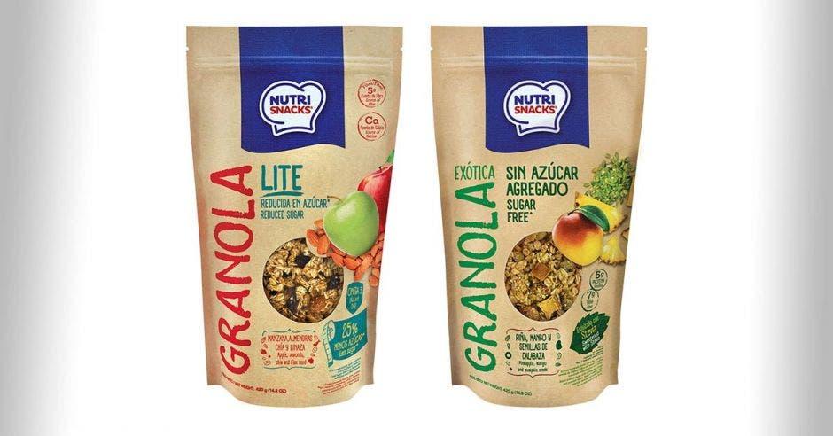 Paquetes con granola
