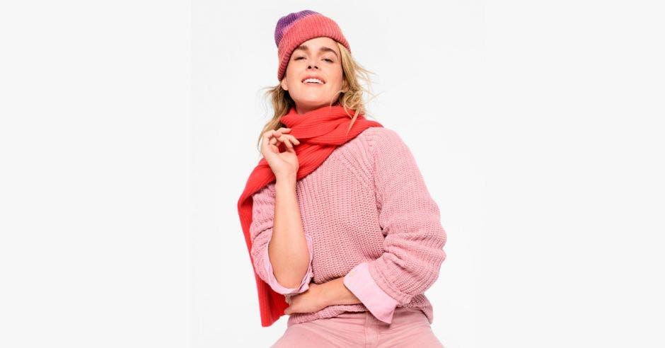 Mujer con topa de invierno