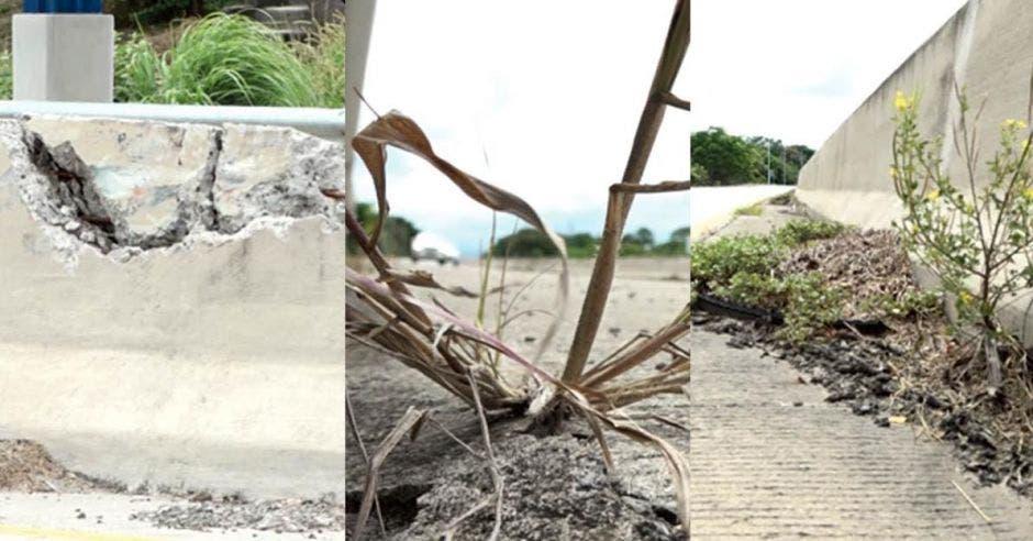 La maleza, materiales y daños estructurales no atendidos empiezan a mostrar deterioro en la carretera Cañas – Liberia; un proyecto en el que se invirtieron más de $200 millones hace apenas tres años. La República