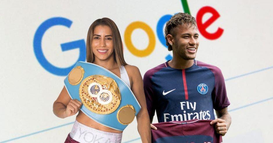 yokasta valle y neymar y logo de google