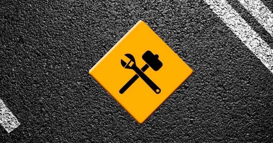 obras, demarcación, carretera