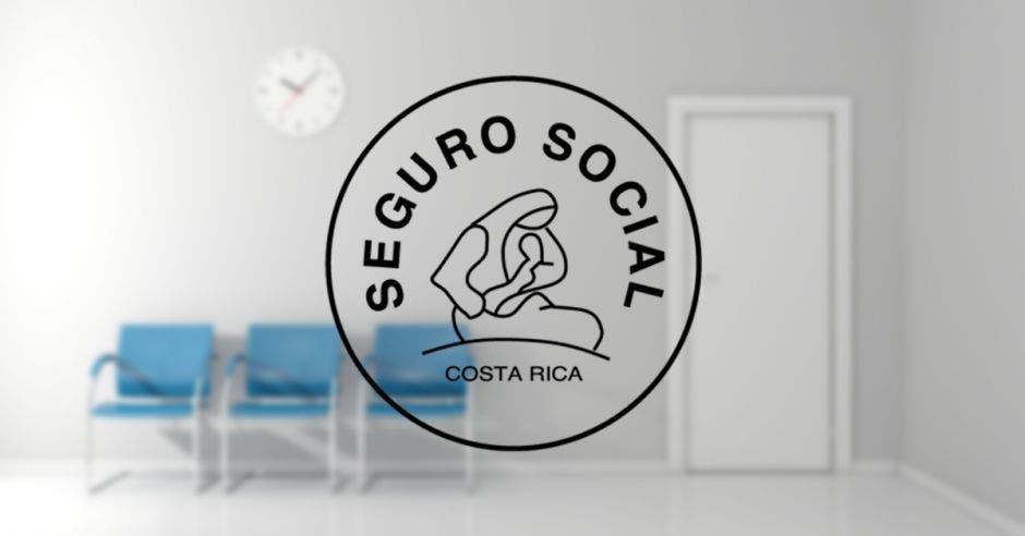 Una sala de espera y el logo de la CCSS
