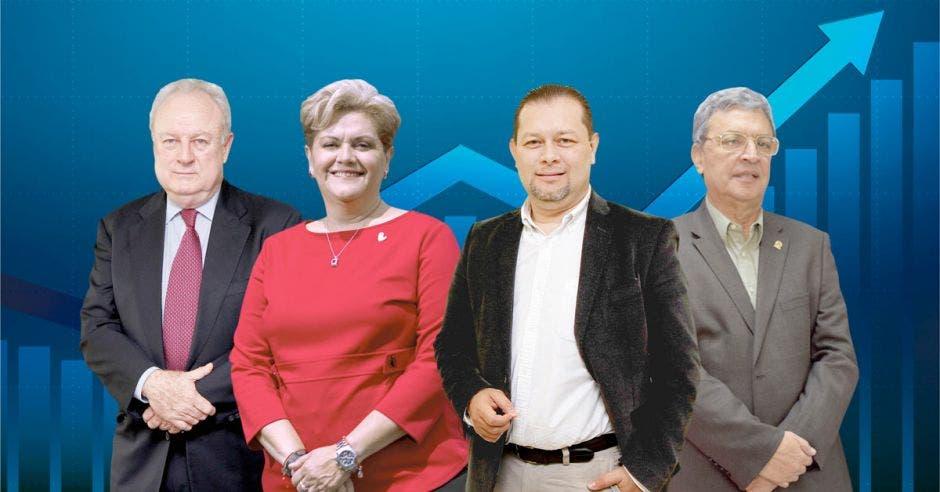 Enrique Egloff, Yolanda Fernández, Randall Murillo y Álvaro Sáenz