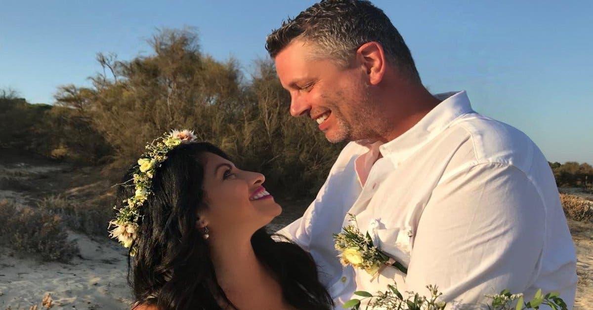 pareja en la boda