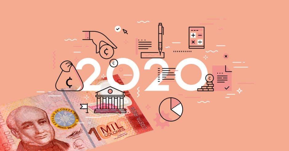 varios elementos económicos, se integran con el 2020 y un billete de mil  colones