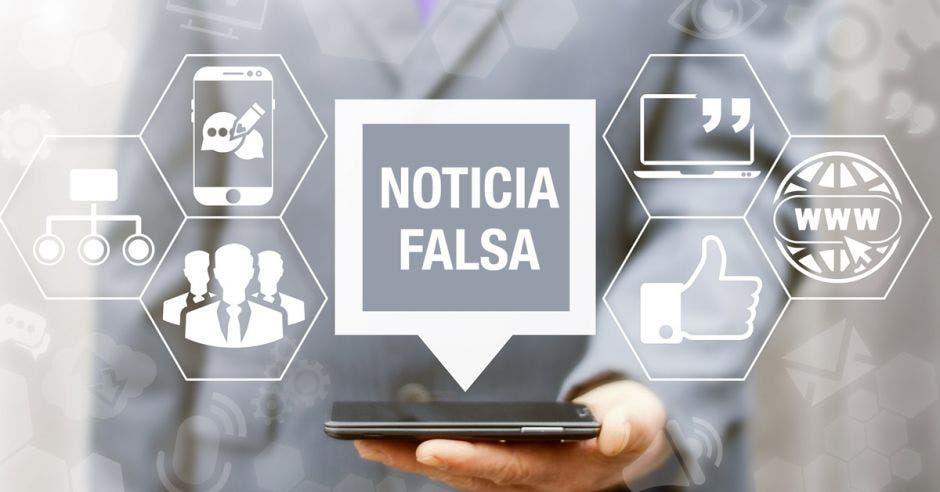 Cuadro de Noticia falsa