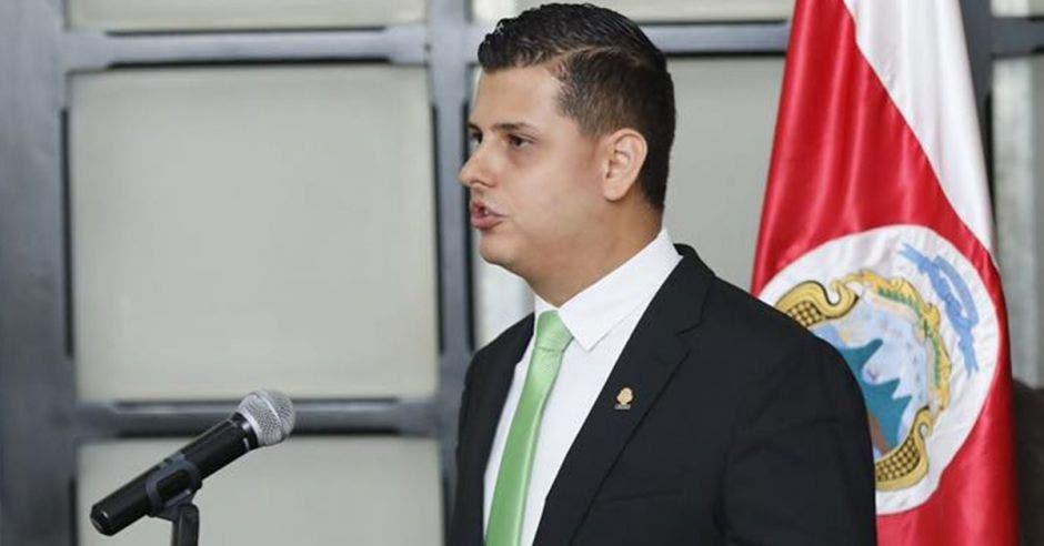 Daniel Ulate, diputado del PLN, fue separado temporalmente del partido y de la fracción. Archivo/La República.
