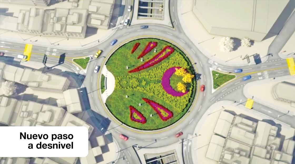 La nueva estructura tendrá un paso a desnivel en forma de rotonda, mientras que por debajo cuatro carriles. Cortesía/La República.