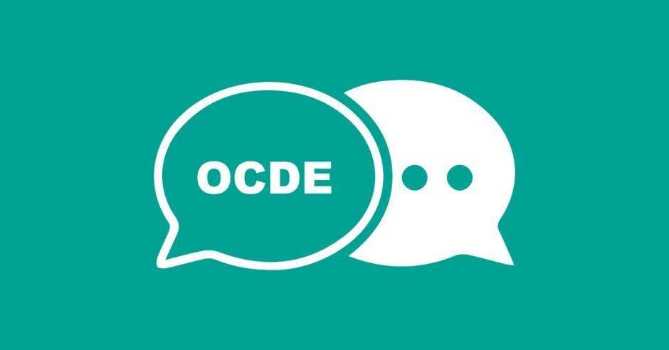 dos cuadros de diálogo uno con la palabra ocde