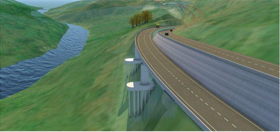 Plano de uno de los tramos de la carretera que irá a cuatro carriles.