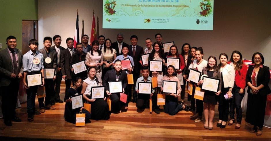 Estudiantes de mandarín en Costa Rica