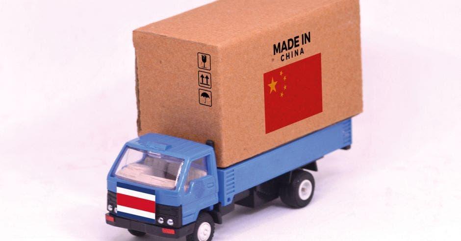 Carga de importaciones y exportaciones entre China y Costa Rica