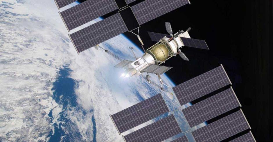 Un modelo de remolque lunar , que utilizar 2 motores VASIMR®, es alimentado por un panel solar