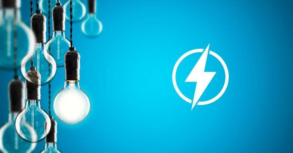 Electricidad con bombillos con IVA