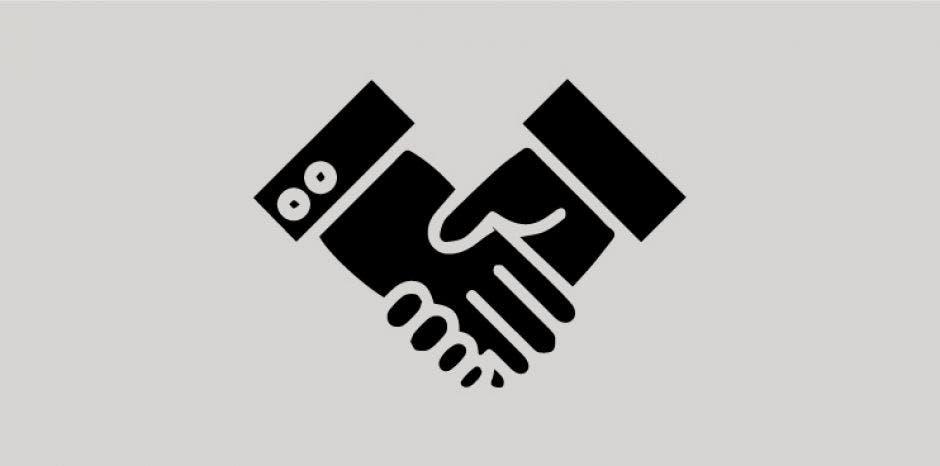 Un dibujo de dos manos dándose un apretón