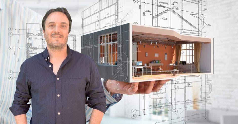"""""""Hay que definir si es un edificio que está pensado para que dure una cierta cantidad de años o si más bien es un edificio efímero"""", dijo Luciano Kruk, arquitecto. Cortesía – Elaboración propia/La República."""
