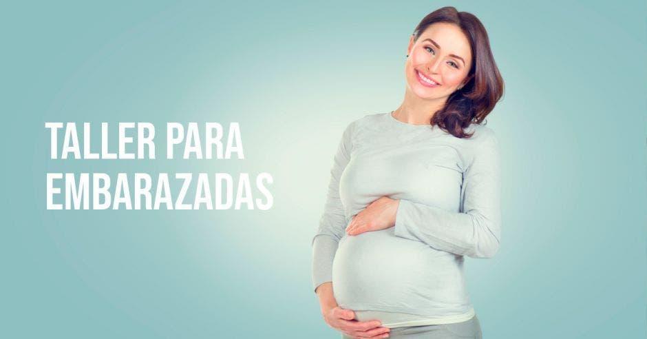Una embarazada