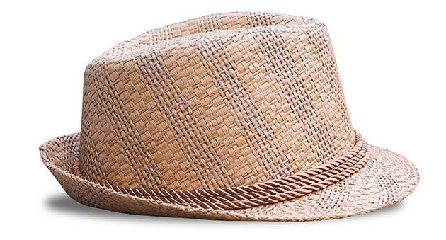 Sombrero tejido a mano.