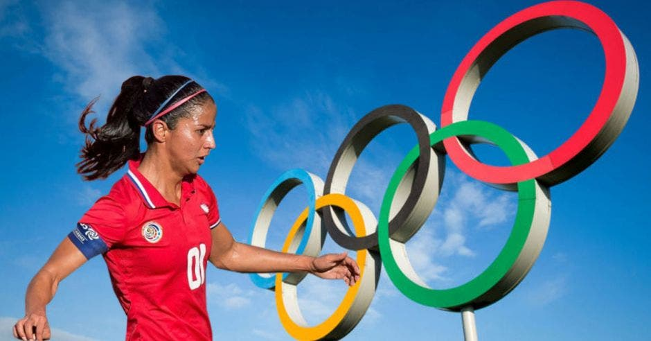 shirley cruz y anillos olimpicos