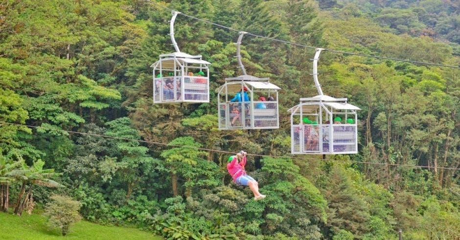 Teleférico en Monteverde