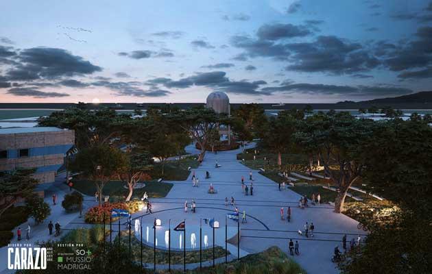 Un parque de noche