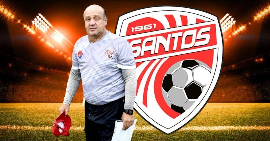 Johnny Chaves, técnico de Santos, lleva razón