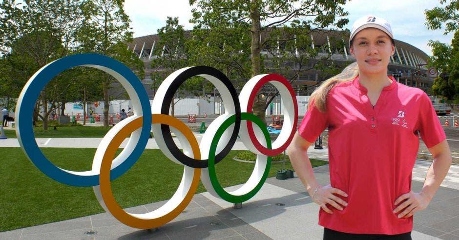 andrea vargas y anillos olímpicos